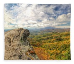Fall From The Blowing Rock Fleece Blanket