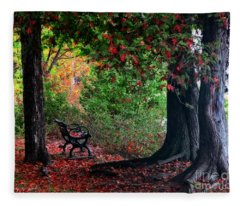 Fall In Henes Park Fleece Blanket