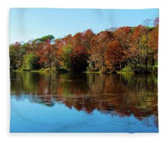 Fall In The Air Fleece Blanket