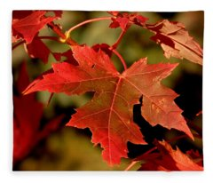 Fall Red Beauty Fleece Blanket