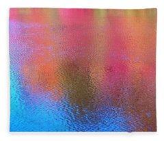 Fall Reflections In South Fleece Blanket