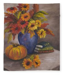 Fall Still Life Fleece Blanket