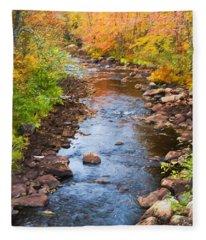 Fall Stream Fleece Blanket
