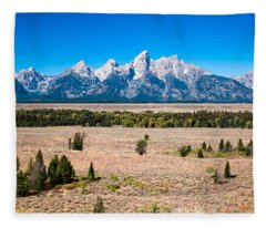 Fall Tetons   Fleece Blanket