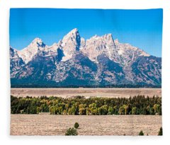 Fall Tetons Panorama   Fleece Blanket