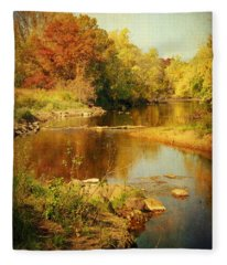 Fall Time At Rum River Fleece Blanket