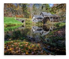 Fallen Leaves At Mabry Mill Fleece Blanket
