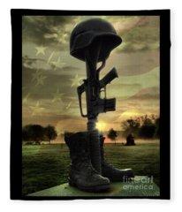 Fallen Soldiers Memorial Fleece Blanket
