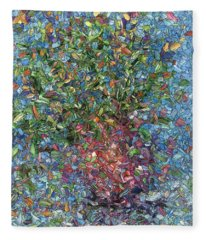 Falling Flowers Fleece Blanket