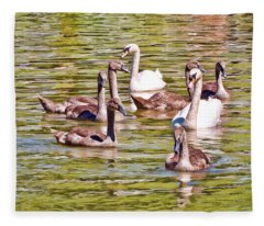 Fleece Blanket featuring the photograph Family Outing by Paul Gulliver