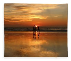 Family Reflections At Sunset -3  Fleece Blanket