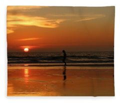 Family Reflections At Sunset - 5 Fleece Blanket