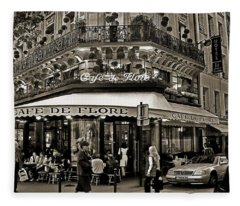 Famous Cafe De Flore - Paris Fleece Blanket