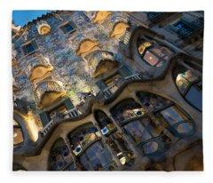 Fantastical Casa Batllo - Antoni Gaudi Barcelona Fleece Blanket