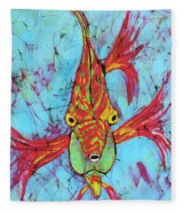 Fantasy Fish Fleece Blanket