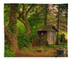 Fantasy Outhouse Fleece Blanket