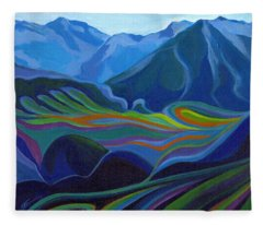 Faraway Mountains Fleece Blanket