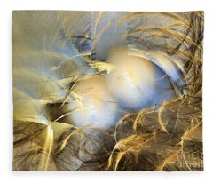 Far From The Treacherous World - Abstract Art Fleece Blanket