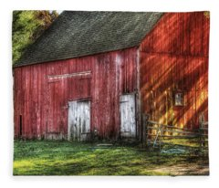 Farm - Barn - The Old Red Barn Fleece Blanket