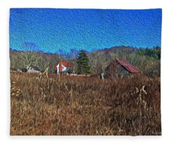 Farm House 2 Fleece Blanket