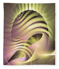 Fascinatio Lucis - Abstract Art Fleece Blanket