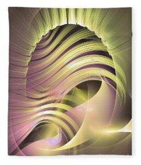 Fascinatio Lucis - Abstract Art Fleece Blanket