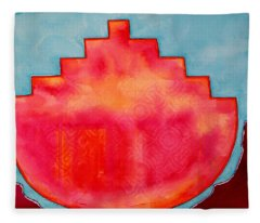 Fat Sunrise Original Painting Fleece Blanket
