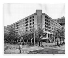 Fbi Building Front View Fleece Blanket