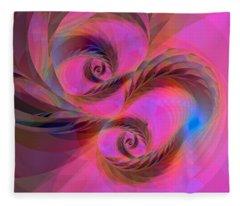 Feathers In The Wind Fleece Blanket