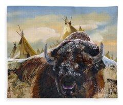 Feed The Fire Fleece Blanket