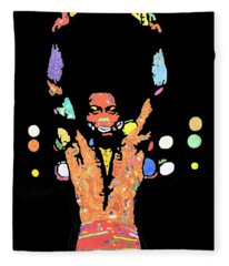 Fela Kuti Fleece Blanket