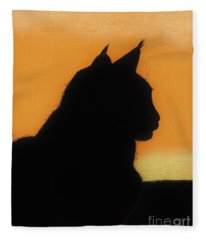 Feline - Sunset Fleece Blanket