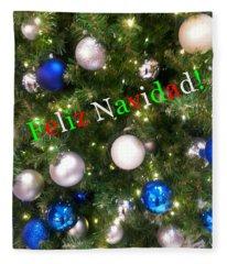 Feliz Navidad Fleece Blanket