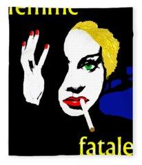 Femme Fatale Fleece Blanket