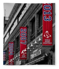 Fenway Boston Red Sox Champions Banners Fleece Blanket