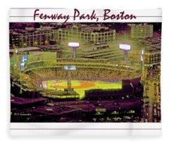 Fenway Park Boston Massachusetts Digital Art Fleece Blanket