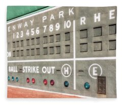 Fenway Park Scoreboard Fleece Blanket