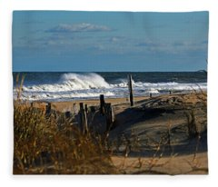Fenwick Dunes And Waves Fleece Blanket