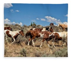 Feral And Free Fleece Blanket