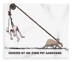 Feral Coot And His Aardvark Fleece Blanket