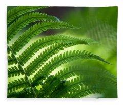 Fern Leaf 2. Healing Art Fleece Blanket