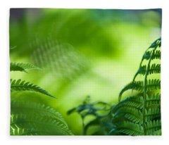 Fern Leaves. Healing Art Fleece Blanket