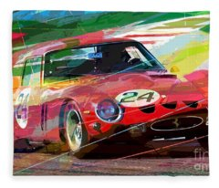 Ferrari 250 Gto Vintage Racing Fleece Blanket