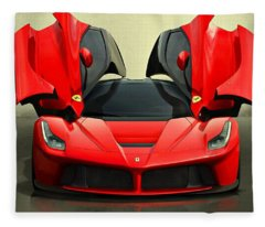 Ferrari Laferrari F 150 Supercar Fleece Blanket