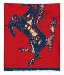 Ferrari Stallion In Hope Fleece Blanket