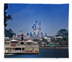 Ferry Boat Magic Kingdom Walt Disney World  Fleece Blanket