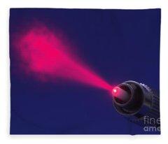 Fiber Emitting Laser Light Fleece Blanket