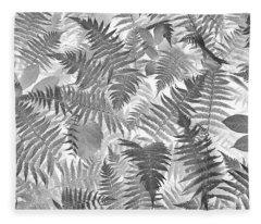 Fiddlehead Ferns Fleece Blanket