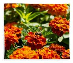 Field Of Marigolds Fleece Blanket