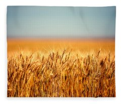 Field Of Wheat Fleece Blanket